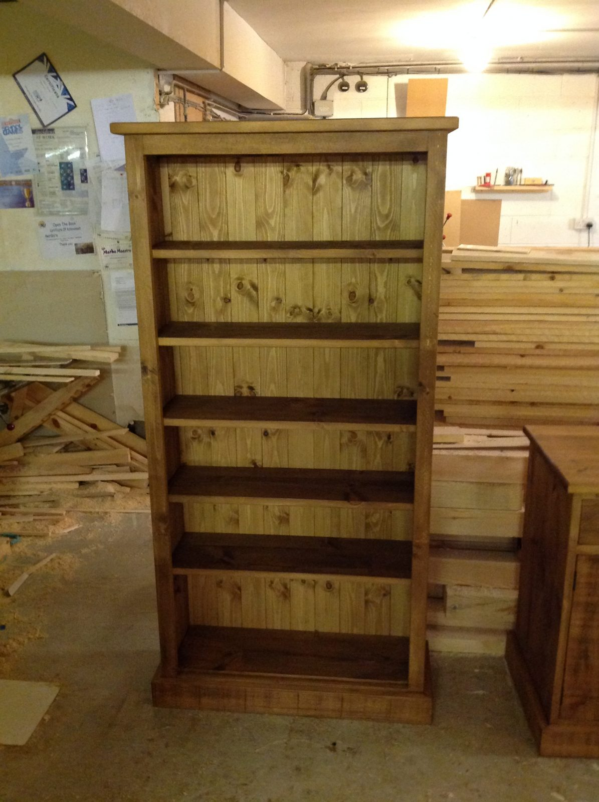 Pine Bookcases Derbyshire Hand Made Bookcase